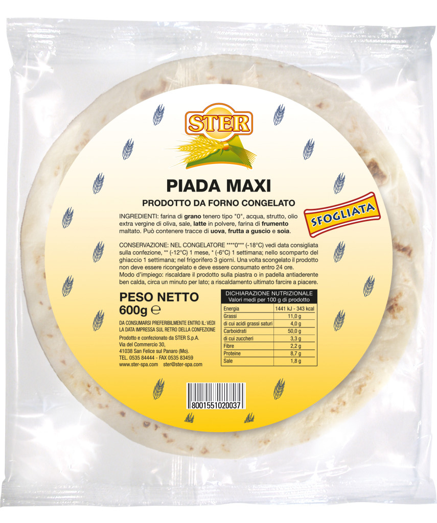 Piada Maxi 600g